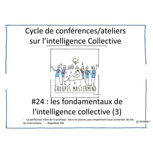 #24 - les fondamentaux de Intelligence Collective 3