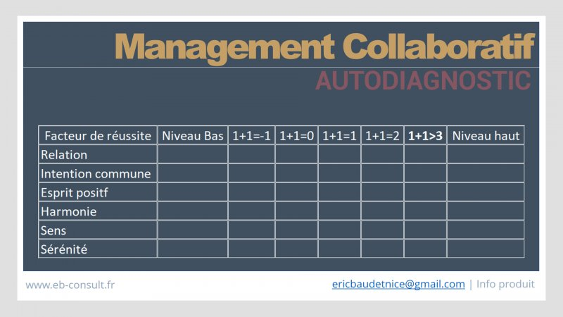 Autodiagnostic management collaboratif eb-consult