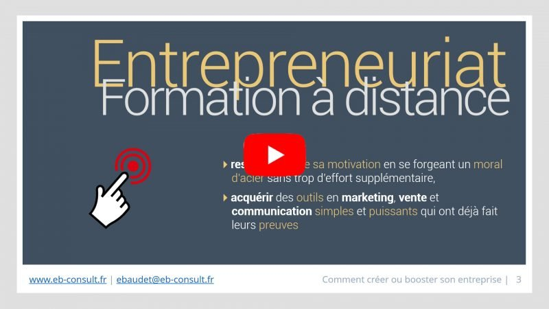 Formation entrepreneuriat