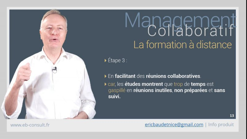 Youtube présentation formation management collaboratif à distance eb-consult
